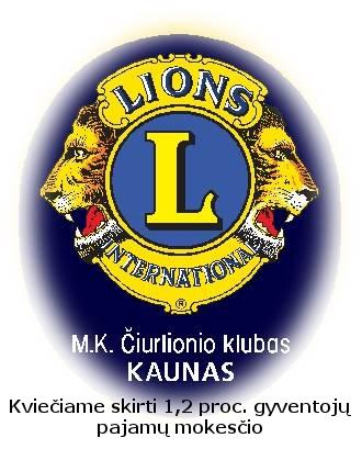 Kauno M. K. Čiurlionio LIONS klubas 1,2%