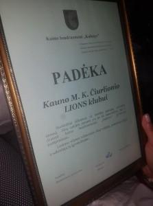 LIONS tarptautinės organizacijos Kauno M. K. Čiurlionio klubo pirmo susirinkimo 2018/2019 sezono akimirkos