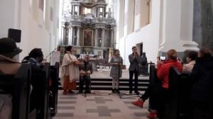 Akimirkos iš 2018 spalio 21 d. Šv. Mišių už akluosius ir silpnaregius.